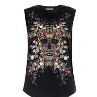 Floral skull tank top | Alexander McQueen | MATCHESFASHION.COM