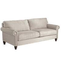 Alton Ecru Rolled Arm Sofa