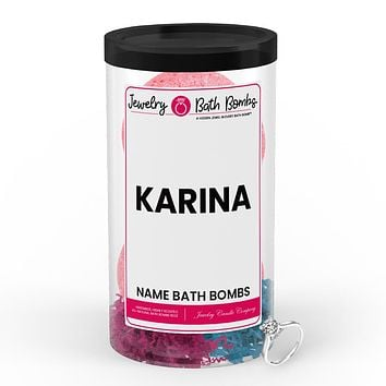 KARINA Name Jewelry Bath Bomb Tube
