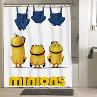 Minion Funny Shower Curtains, Decorative Shower Curtains