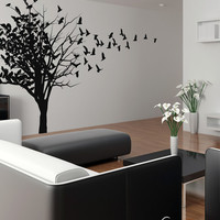 Vinyl Wall Decal Sticker Birds in Tree #MCrespo102