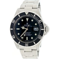 Rolex Submariner Date Black Dial 40MM Oyster Watch 16610 Box&Papers