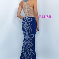 Blush Fitted Sexy Dress 11017