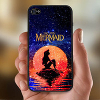 Disney The Moon Ariel The Little Mermaid   - Photo Print for iPhone 4/4s Case or iPhone 5 Case - Black or White