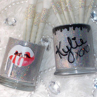 Dripping Lip || Makeup Brush Holders || 2 Pieces