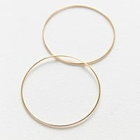 18k Gold + Sterling Silver Plated Basic Hoop Earring | Urban Outfitters
