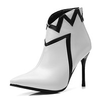 Pointed Toe Stiletto Heel Ankle Boots Party Shoes 6829