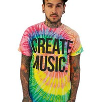 Create music - Mens T-shirt (Tie Dye) - T-Shirts - Aspire And Create - Brands - Paper Alligator