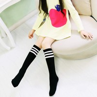 Children Striped Socks Boys Sock Kid's Above Knee Plain Socks Long Fashion Stockings Kids Over Knee High Sock Baseball