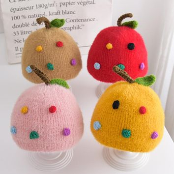 Newborn Baby Hat Autumn And Winter For Girls And Toddlers Princess Cute Men And Women Baby Winter Warm Woolen Hat