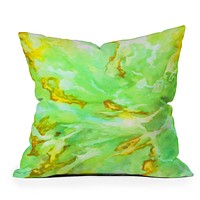 Rosie Brown Neon Sea Coral Throw Pillow