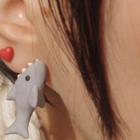 Valentine New One Shark - Cute Popular Earring Stud