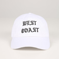 The West Coast Dad Hat in White