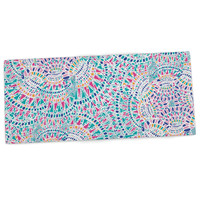 "Miranda Mol ""Kaleidoscopic White"" Aqua Abstract Desk Mat"
