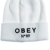 The Pearse Beanie in White
