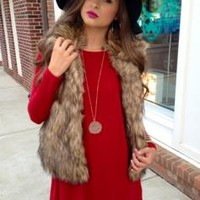Fur-bulous Vest : Swoon Boutique