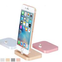 High Quality Metal Charging Base Dock Station Cradle Desktop Docking Charger For Apple iPhone 7 5 5C 5S 6 6S 6 Plus 6S/7 Plus