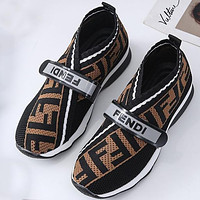 FENDI plus size womens shoes wool lining round toe casual shoes sneakers-4