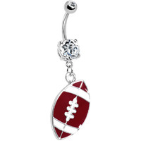 Crystalline Gem Football Belly Ring | Body Candy Body Jewelry