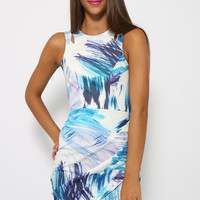 Palm Springs Dress - Blue Print