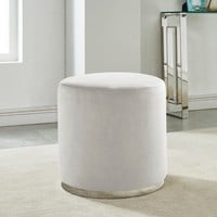 Opus-Velvet Ottoman | Overstock.com Shopping - The Best Deals on Ottomans