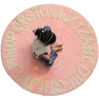Kids ABC Alphabet 5 Feet Round Washable Area Rugs - 100% Cotton