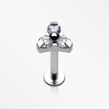 Trinity Sparkle Internally Threaded Steel Labret