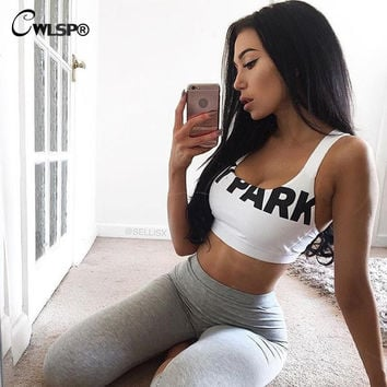 Women Sexy Crop Top Beyonce Tank Top Ivy Park Letter Cropped Top FREE SHIPPING