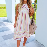 Changing Lives Dress: Beige/Multi