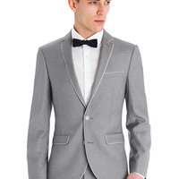 VENTUNO 21 SLIM FIT CHAMPAGNE WITH PIPING SUIT