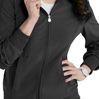 Infinity by Cherokee zip front warm up scrub jacket with Certainty.