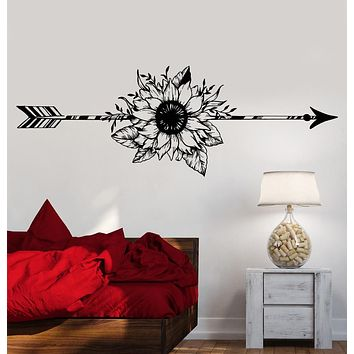 Vinyl Wall Decal Arrow Flower Art Decoration Bedroom Design Stickers Unique Gift (1179ig)