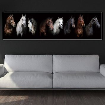Animal canvas painting art print horse canvas and poster no frame wall art Painting decoration for living room wall art pictures