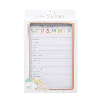 What's On Your Phone & Baby Word Scramble Baby Shower Game