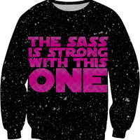 Star Wars - The Sass Is Strong With This One (Purple) Sweatshirt