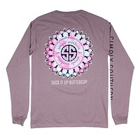 Long Sleeve Preppy Butter Cup Tee in Steel by Simply Southern