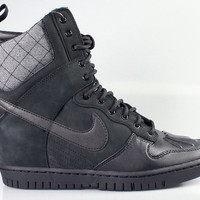 Nike Women's Dunk Sky Hi Wedge Sneakerboot Black