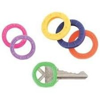1 X Lot of 12 Home Aide Color Coded Key ID Cover Indicators Rings Asst Sizes K2414