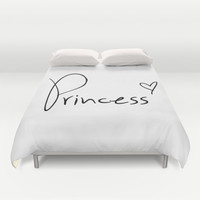 Princess Heart Duvet Cover by RexLambo