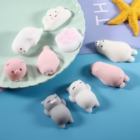 Squishy Phone Straps for iPhone Cute Silicone Squishy Hand Squeeze Toy Fidget  Pinch Toy - Polar Bear, Size: 6.5 x 2cm