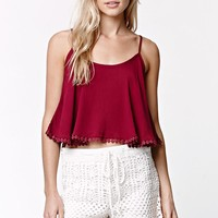 LA Hearts Sweater Crochet Scalloped Shorts - Womens Short - White
