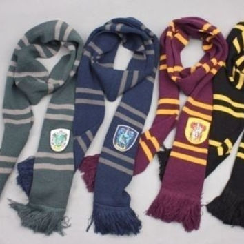 Harry Potter Gryffindor Slytherin Hufflepuff Ravenclaw House Cosplay Scarf Collections = 1958139268