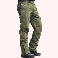Men Camouflage Tactical Cotton Pants Trousers