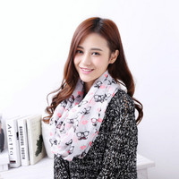 Floral Printed Women Glasses Scarf Shawl _ 10072