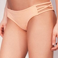 Strappy Water Resist Coral Bikini Bottoms - Urban Outfitters