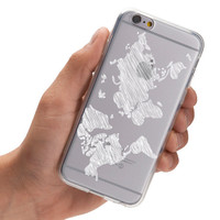 Sketchy World Map - Doodle World Map - Wanderlust - Travel - Super Slim - Printed Case for iPhone - S002