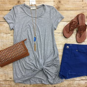 Knotted Top: Grey