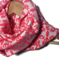Pink Infinity Scarf - fashion scarf pink scarf womens scarves cowl scarf womens accessory winter fashion loop scarf circle scarf