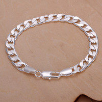 Dower Me Classic Metal Silver Link Chain Men H246