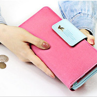 2015 Candy Color Women Brand Wallets Famous Designer PU Leather Long Wallet Coin Purses Ladies Monederos Women Wallets = 1958284804